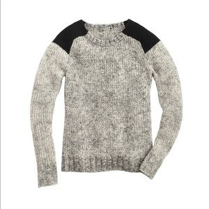 J.Crew Marled colorblock-shoulder sweater